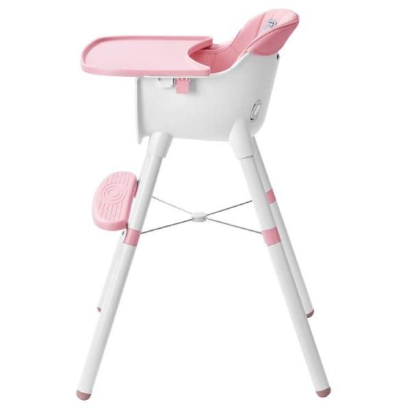 Jedálenská stolička 2v1 Eco Toys - ružová