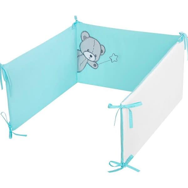 6-dielne posteľné obliečky Belisima Teddy Bear 90/120 tyrkysové
