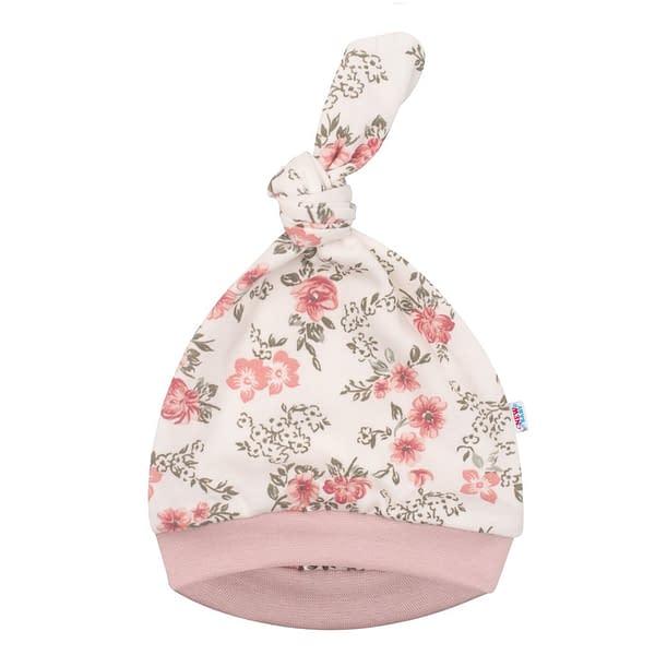 Dojčenská Čiapočka New Baby Flowers Ružová