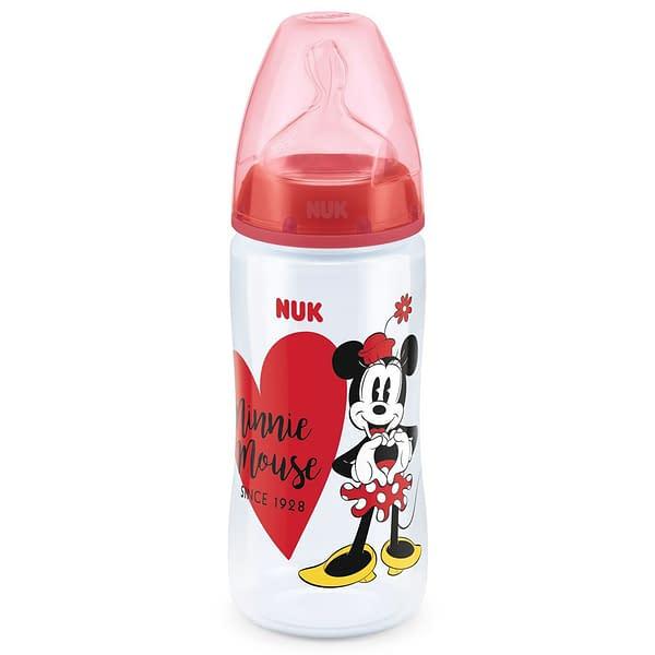 Dojčenská Fľaša Nuk Disney Mickey 300 Ml Minnie Júná