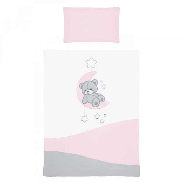 2-Dielne Posteľné Obliečky Belisima Teddy Bear 90/120 Ružové