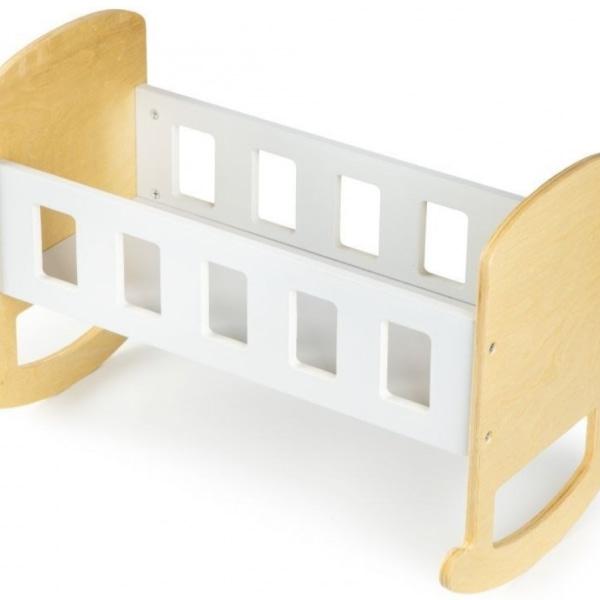 Eco Toys Drevená Kolieska Pre Bábiky - Biela
