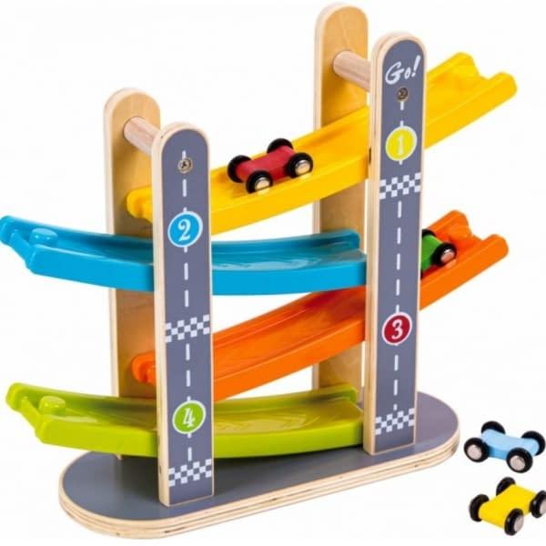 Eco Toys Drevená Závodná Dráha S Autíčkami - Fun Racing Track