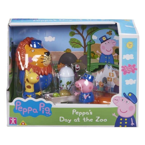 Prasiatko Peppa / Peppa Pig V Zoo Plast 3 Figúrky S Doplnkami V Krabici 22X16x12cm