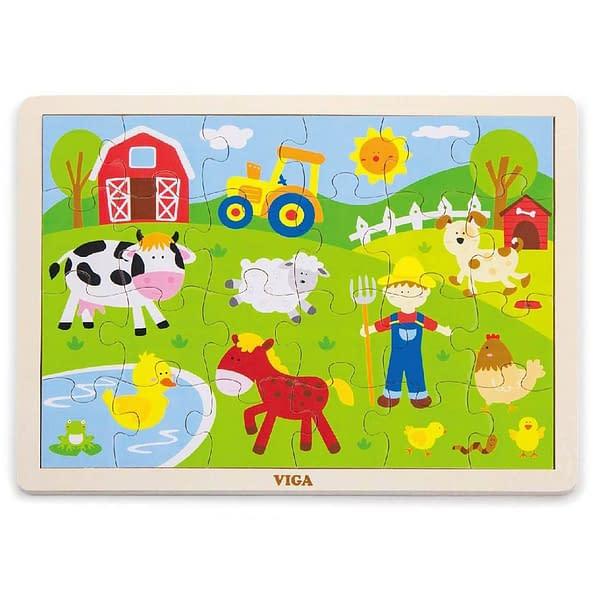 Detské Drevené Puzzle Viga Farma