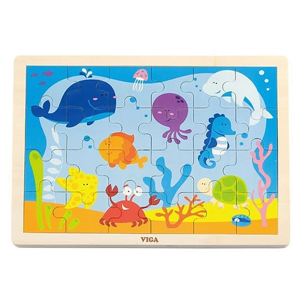 Detské Drevené Puzzle Viga Oceán
