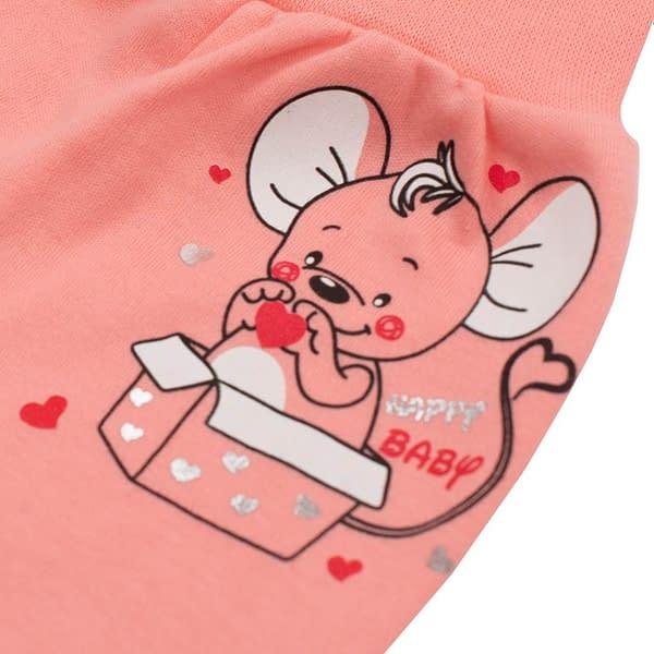 Dojčenské Polodupačky New Baby Mouse Lososové