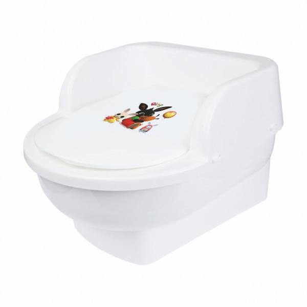 MALTEX Nočník, prenosná detská toaleta BING - biely