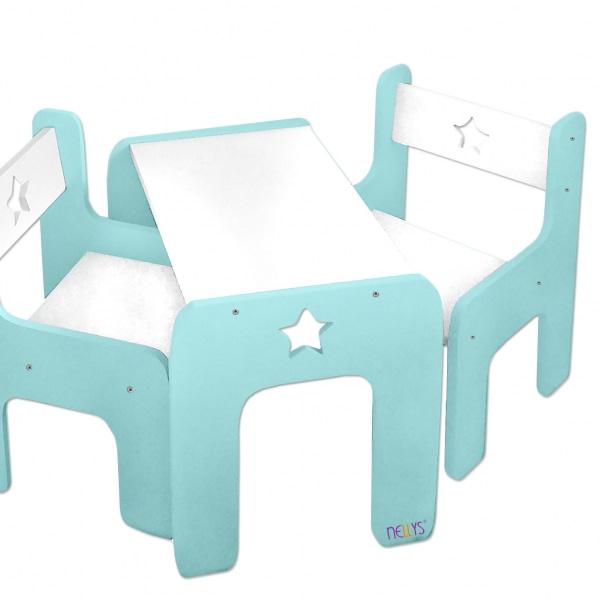 Nellys Sada Nábytku Star - Stôl + 2 X Stoličky - Mátová D19
